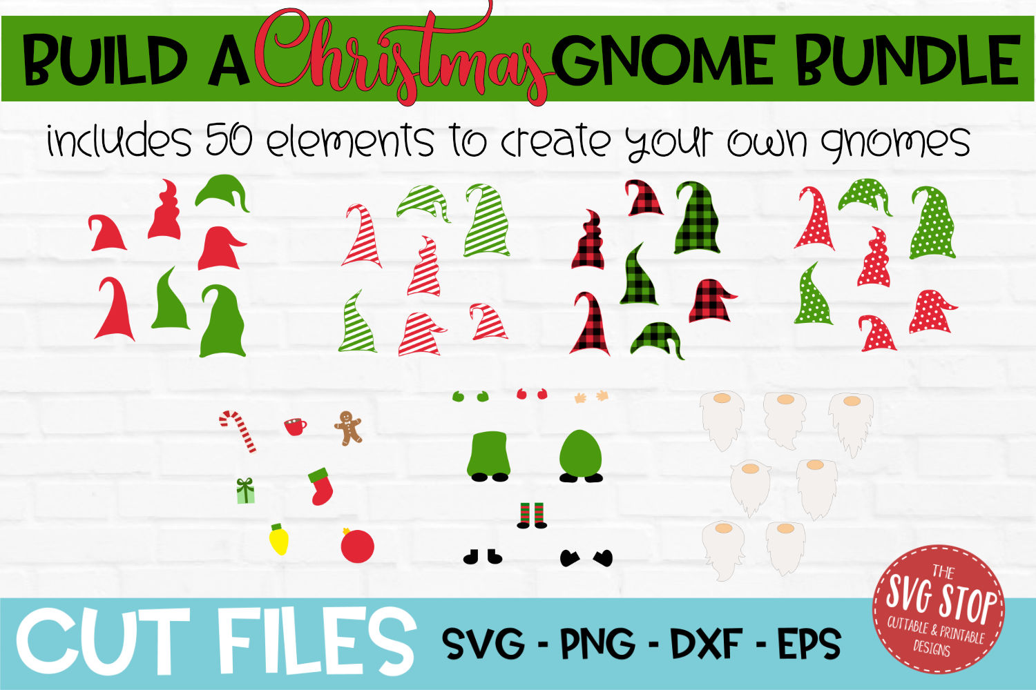 Build a Christmas Gnome Bundle SVG, PNG, DXF, EPS example image 2