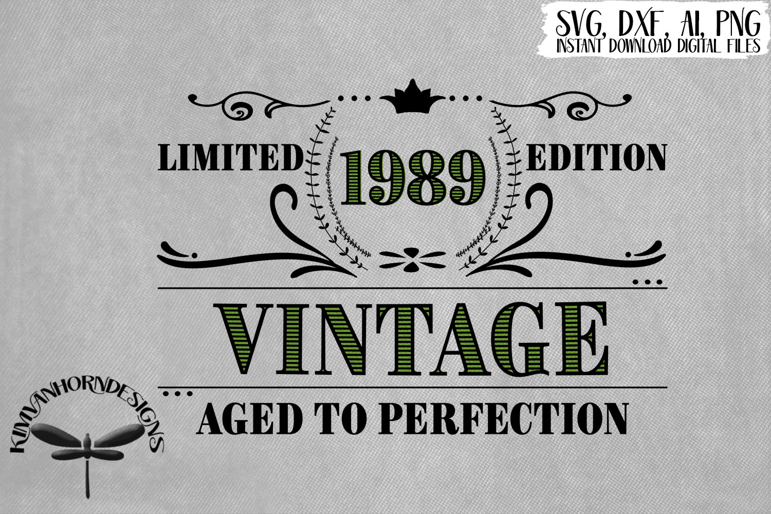 Vintage 1989 Aged to Perfection - 30th Birthday example image 1
