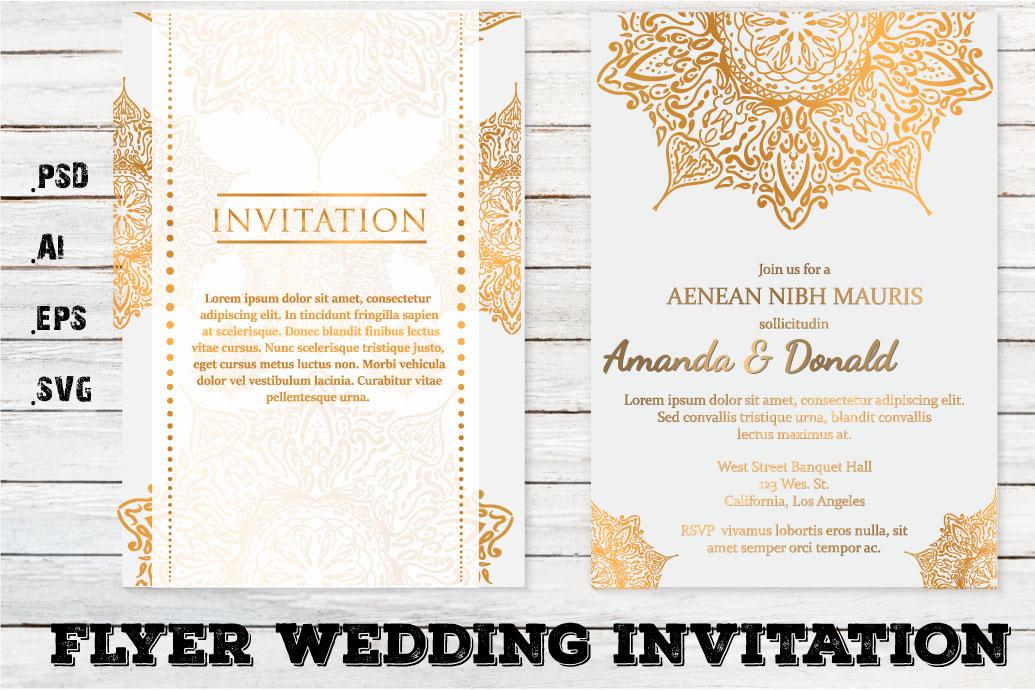 Flyer Wedding Invitation Template example image 1