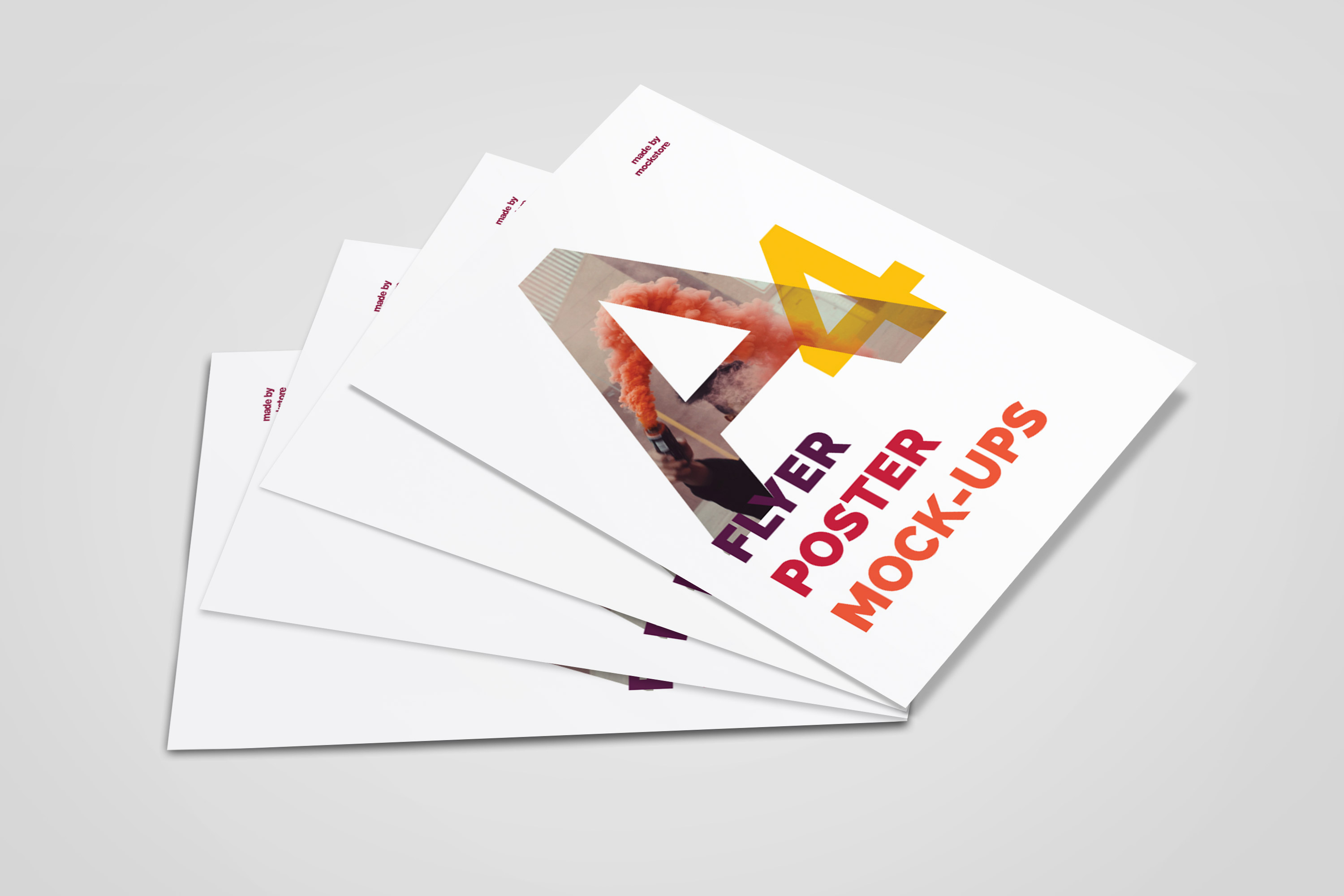 A4 Flyer / Poster Mockups example image 2