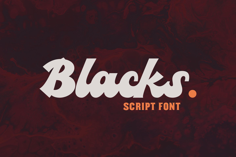 Blacks Script Font example image 1