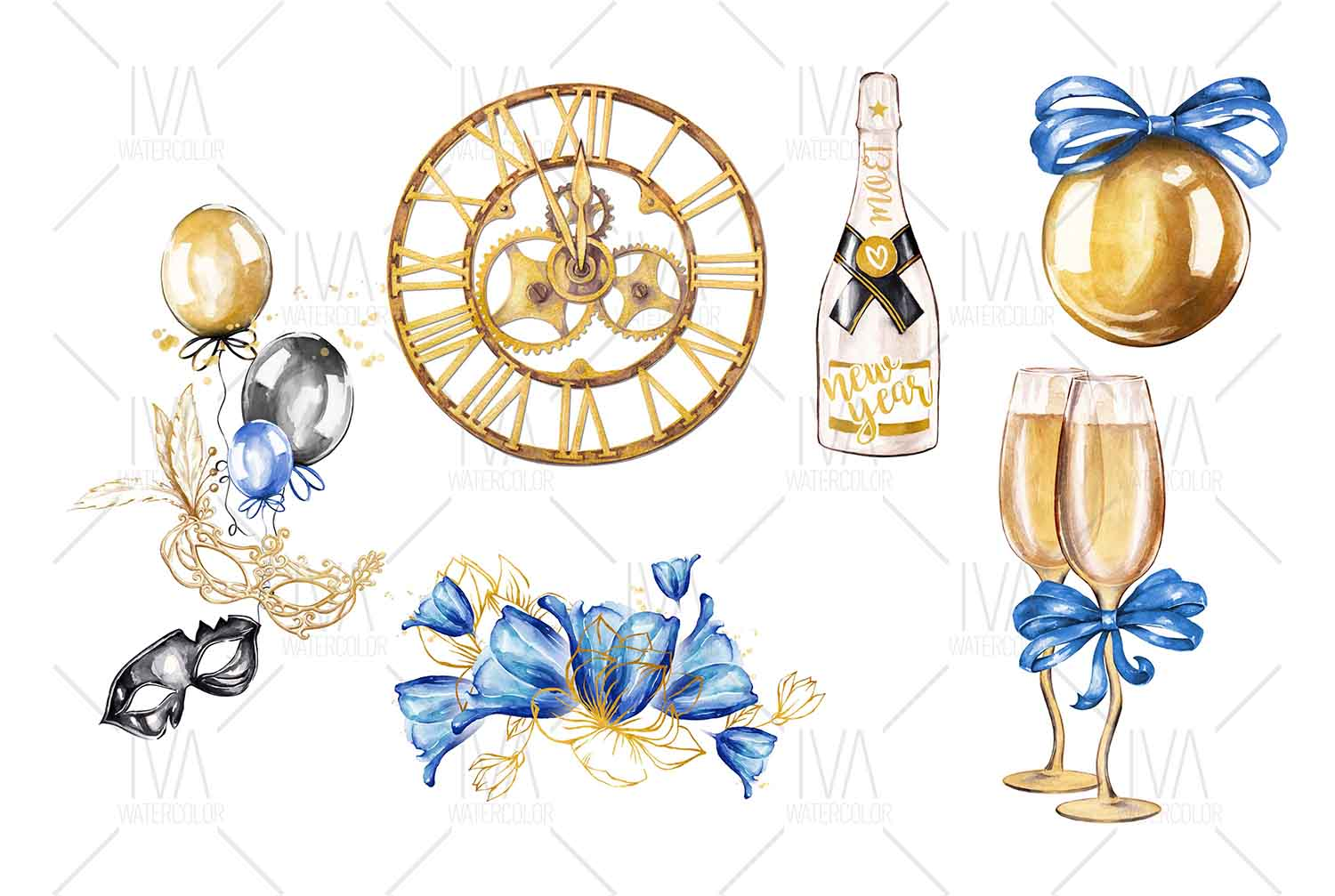 New Year's Eve Clipart example image 2