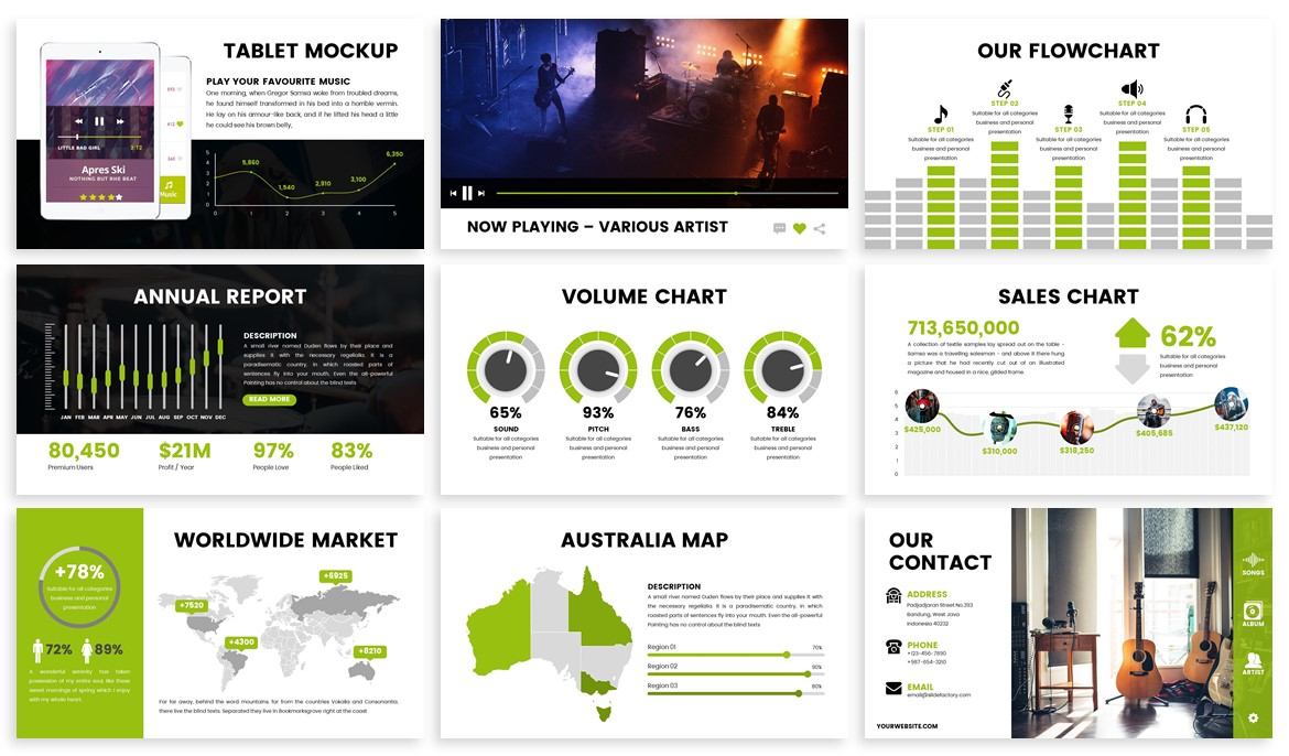 Stream - Music Powerpoint Template example image 4