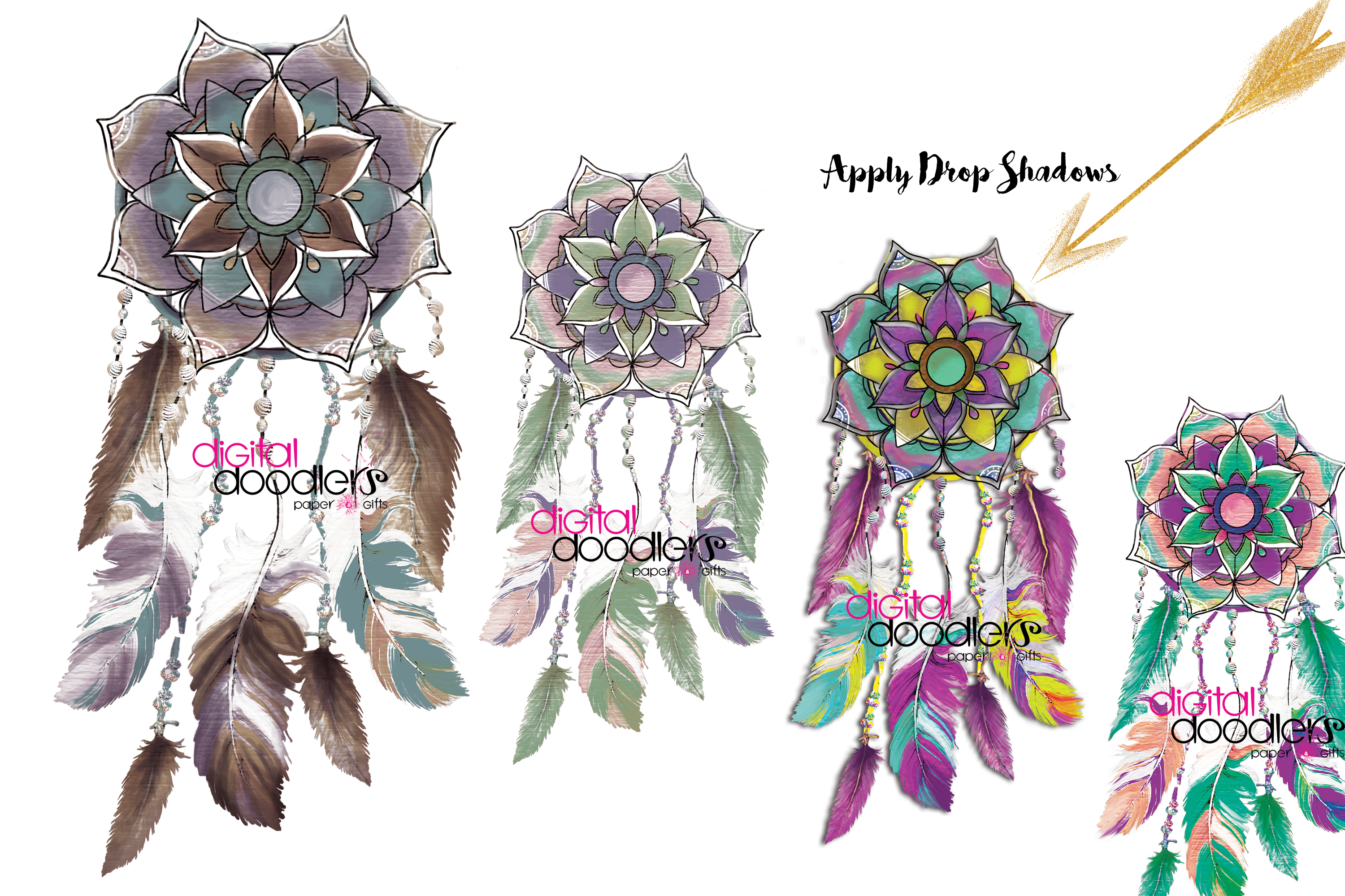 Mandala Inspired Dreamcatchers example image 3