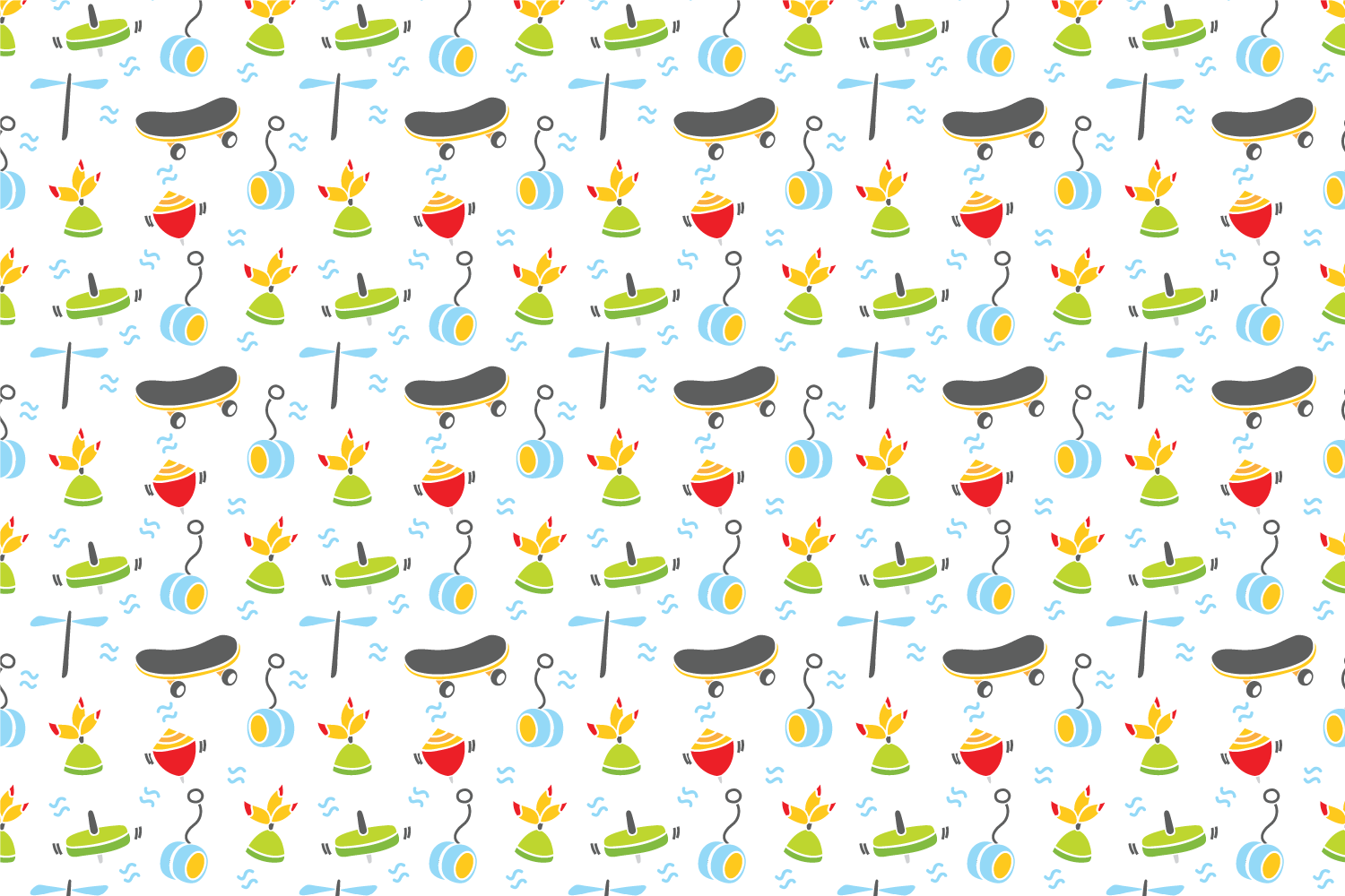 Cute baby toys seamless pattern example image 7