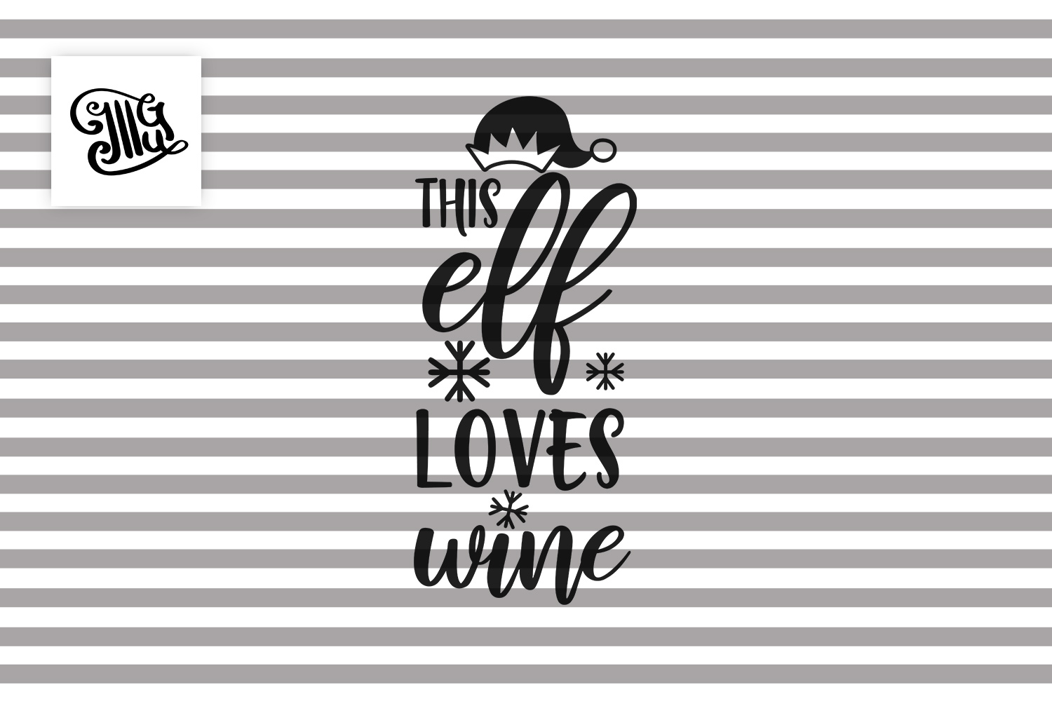 This elf loves wine - Christmas wine example image 2