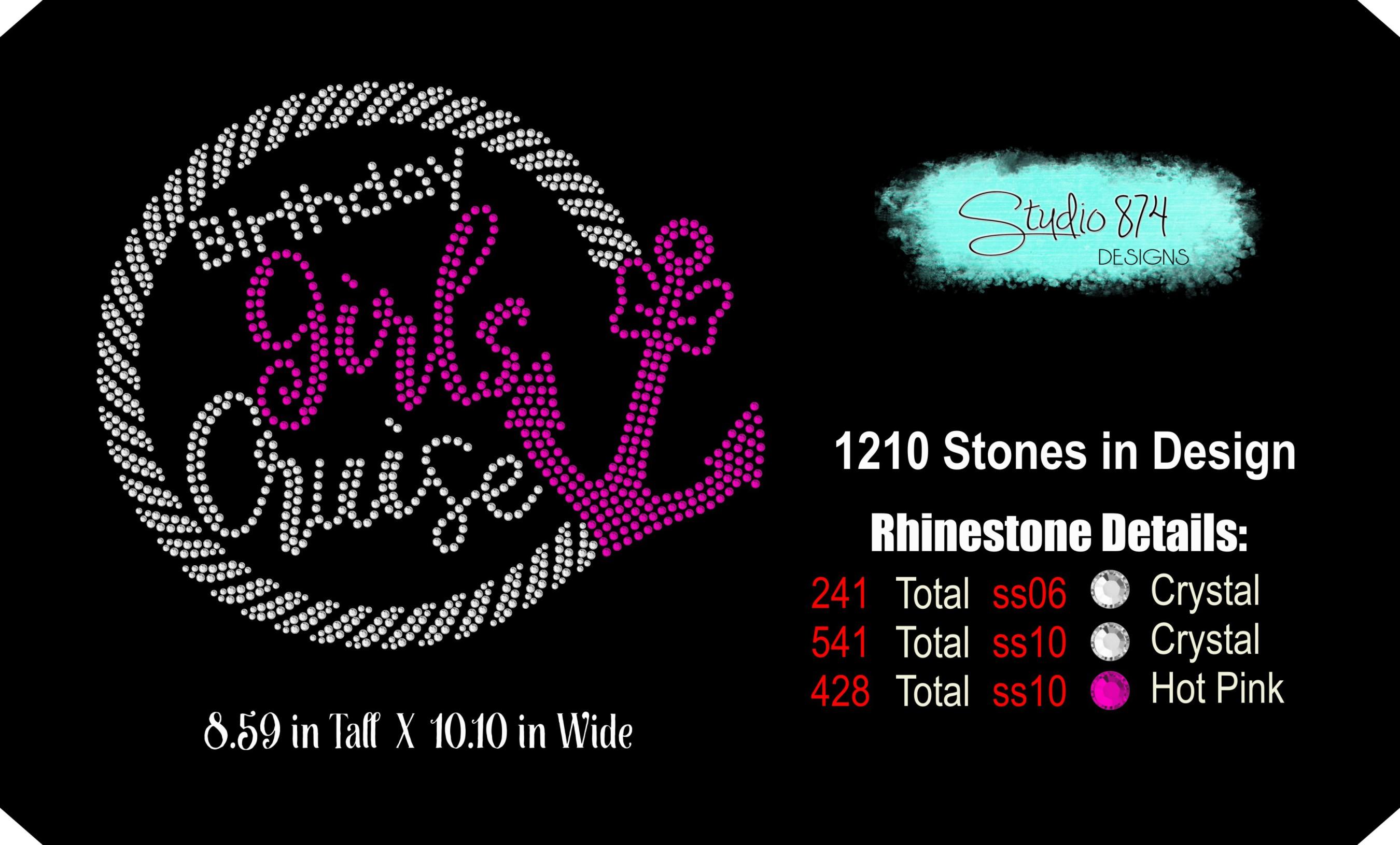 Birthday Girls Cruise - Rhinestone SVG Template example image 3
