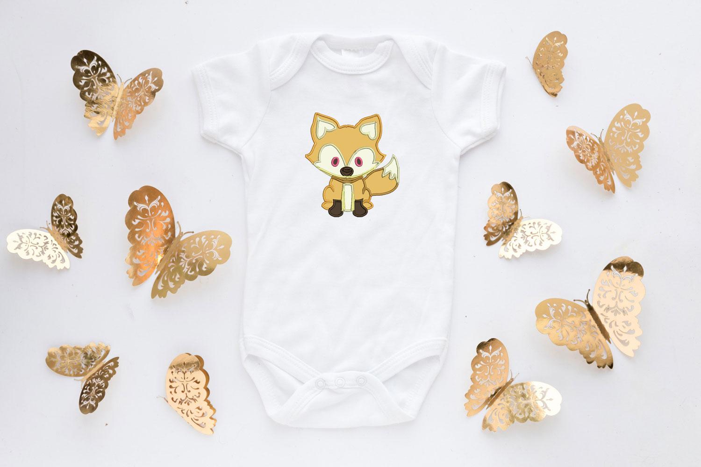 Fox Applique Design, Fox Embroidery Design, Wild Animals example image 3