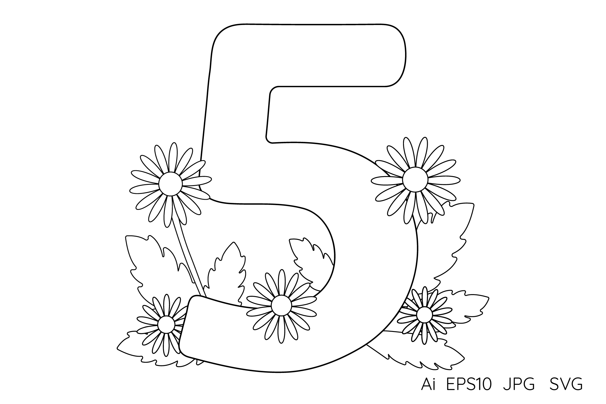 Numbers from 0 to 9. Coloring pages. example image 7