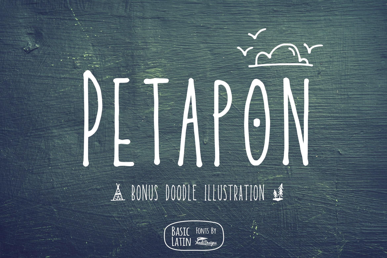 Petapon Font + BONUS example image 1
