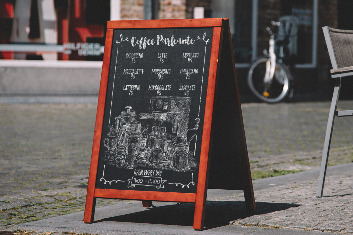 Watercolor Coffee Black Parleante example image 4