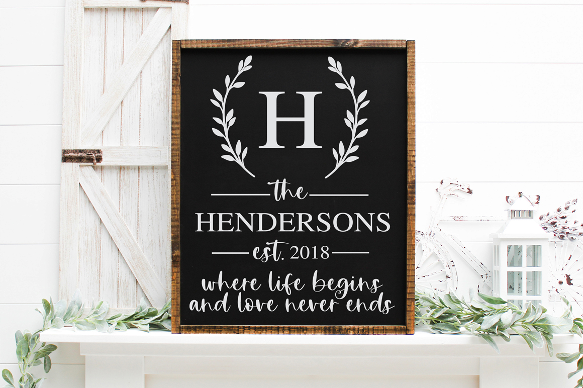 Customizable Family Name SVG example image 2