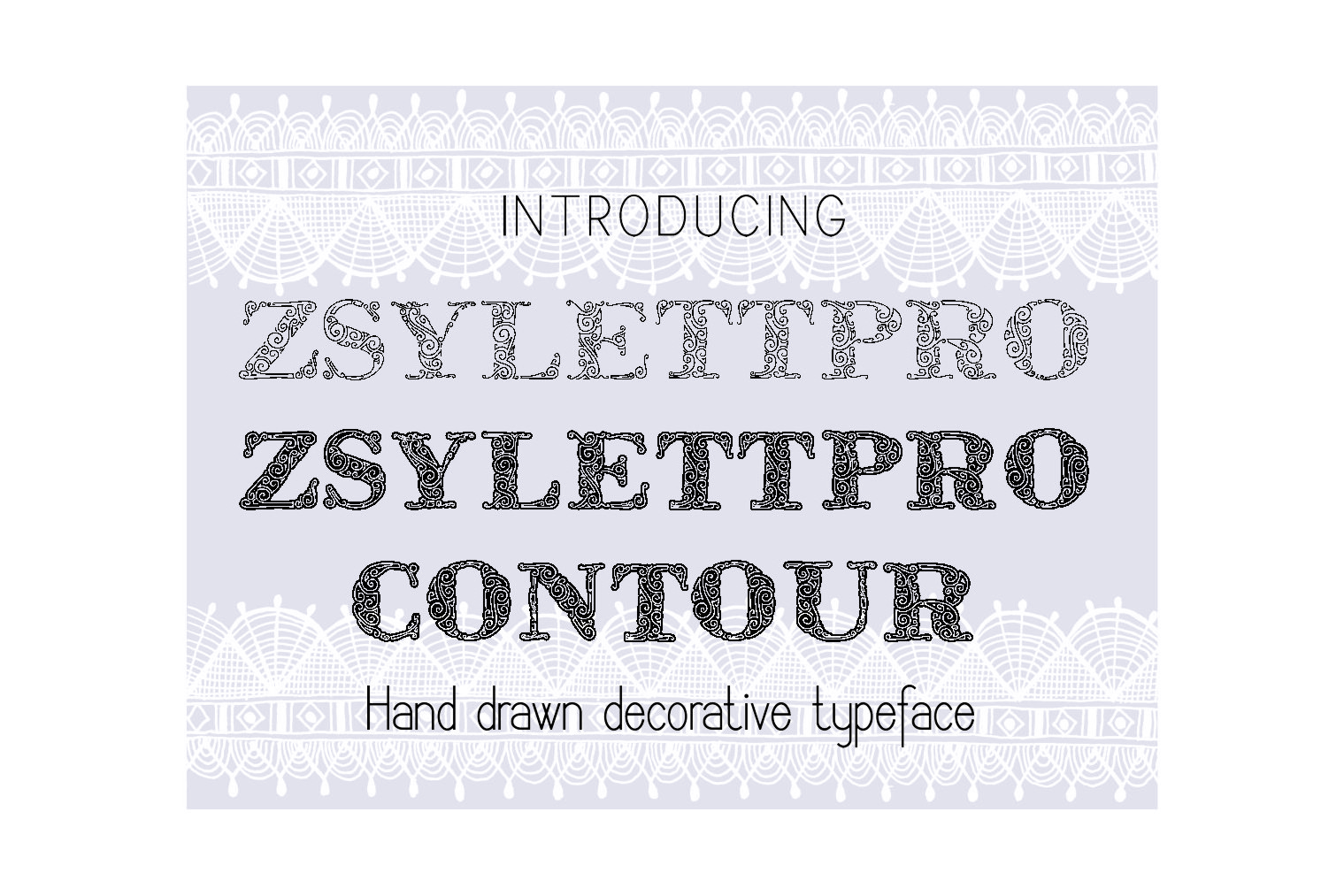 ZsylettPro decorative font example image 3