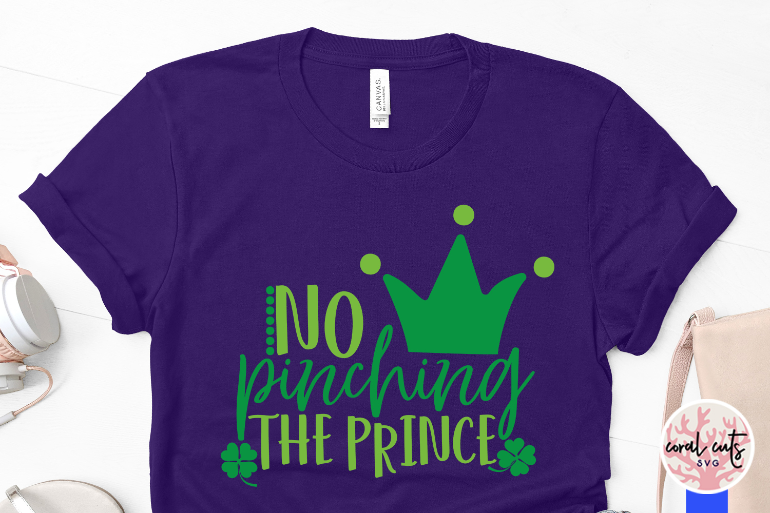 No pinching the prince - St. Patrick's Day SVG EPS DXF PNG example image 3