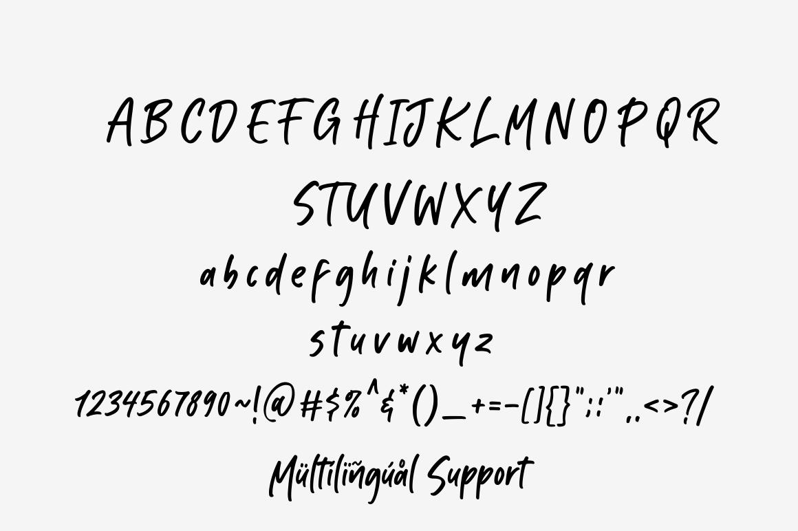 Kabut Hitam - Handwritten Font example image 8