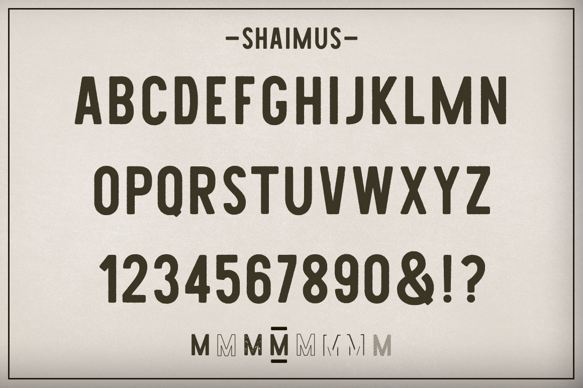 Shaimus Font Collection example image 6