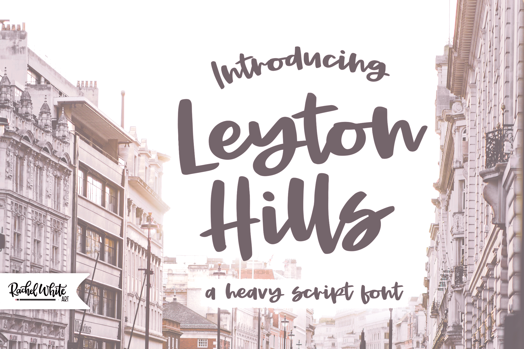 Leyton Hills, a heavy script font example image 1