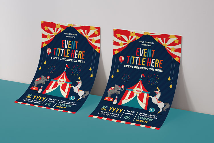 CIRCUS FESTIVAL FLYER example image 4
