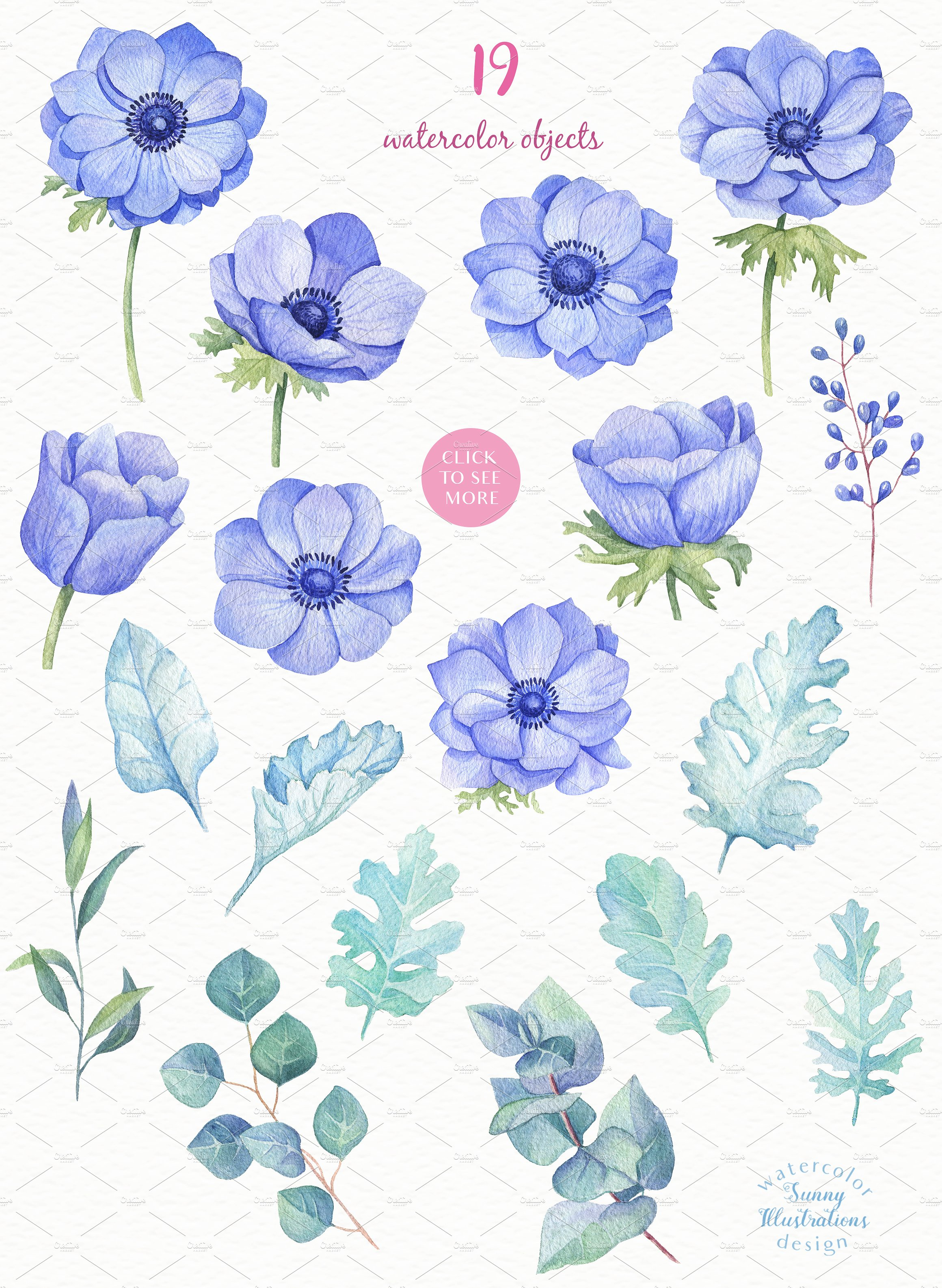 -40% OFF - Blue Anemones example image 2