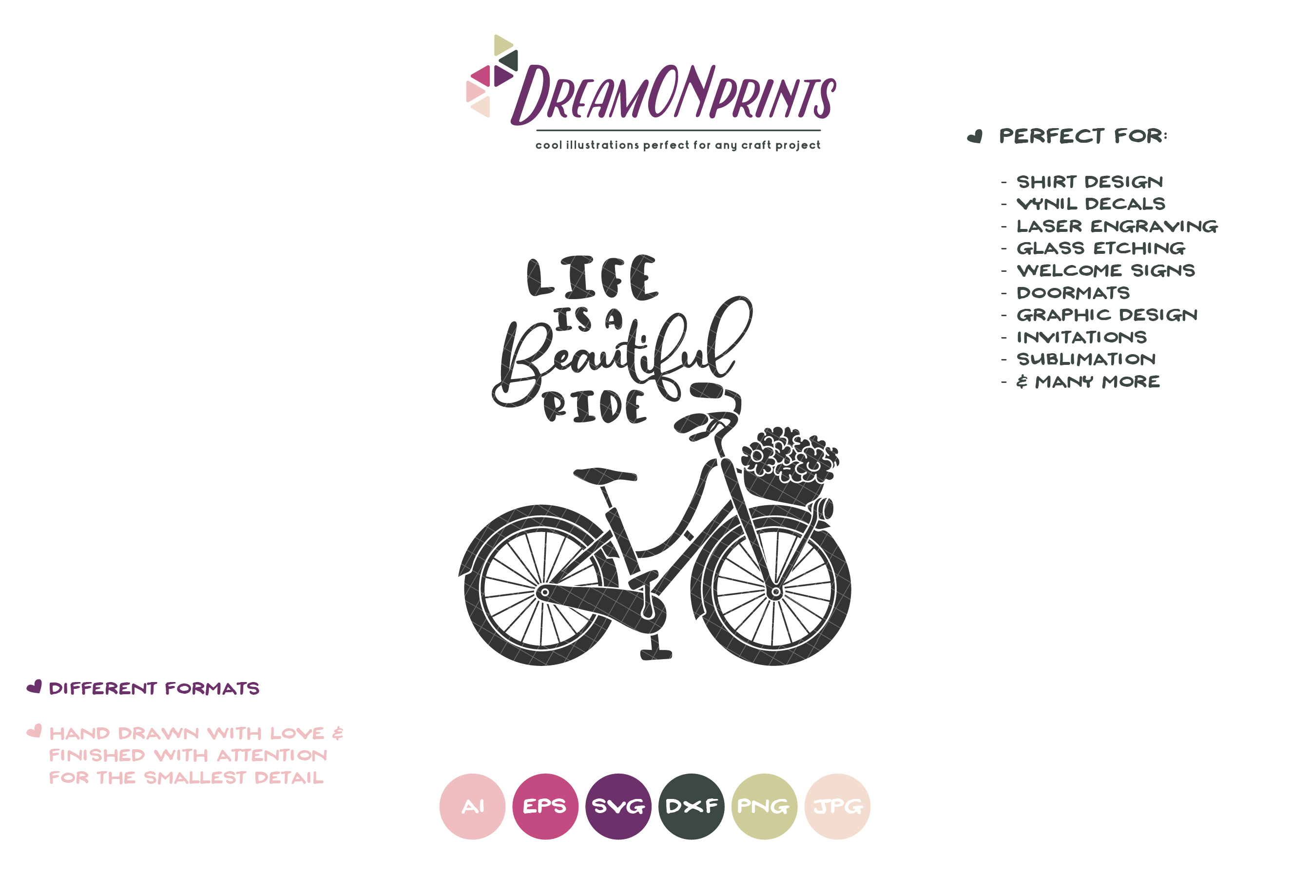 Life is a Beautiful Ride | Bike Svg | Life Quote example image 2
