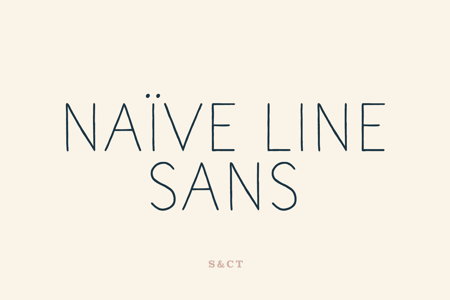 Naive Line Sans Family example image 1