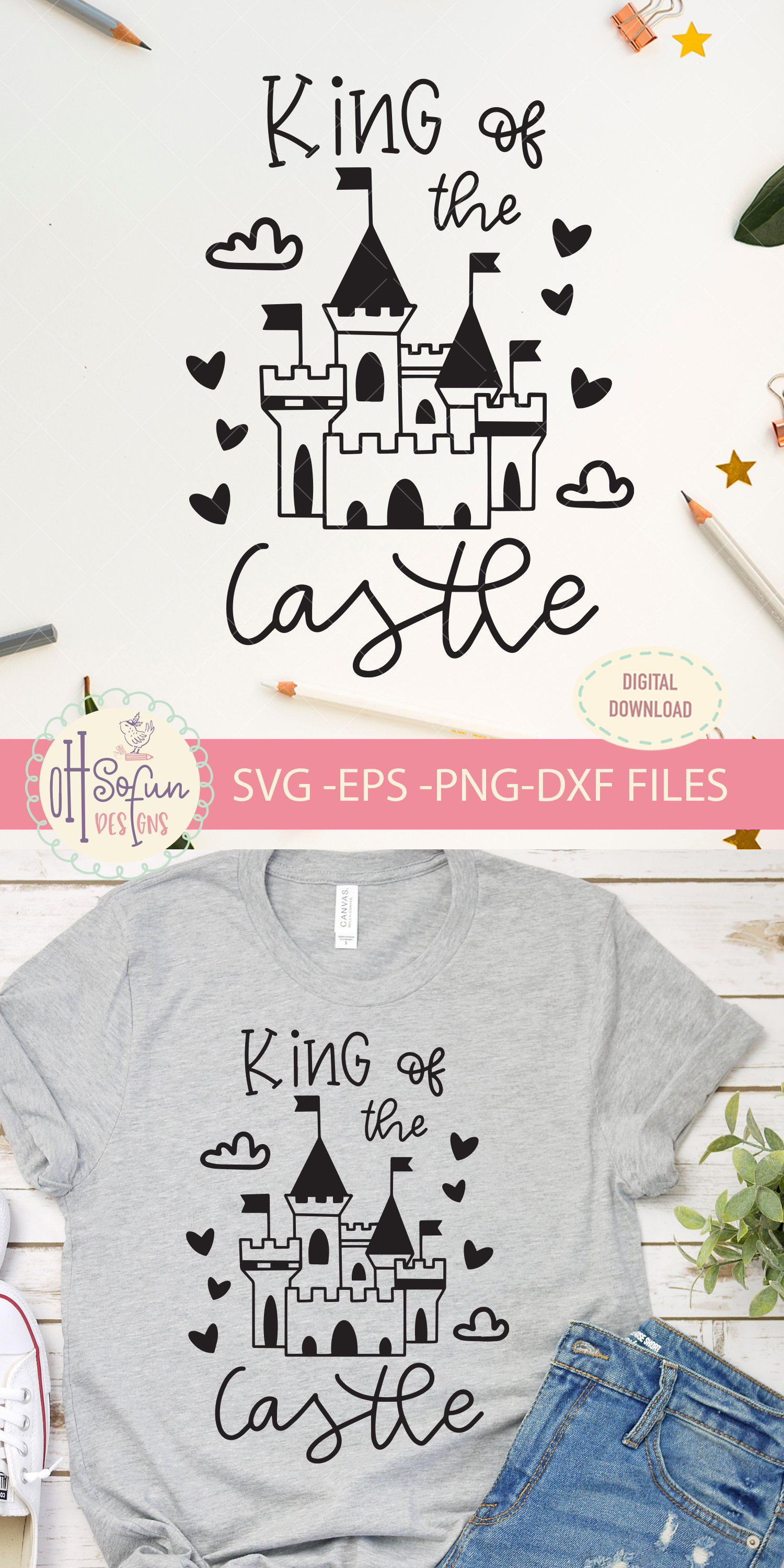 King of the castle, SVG file, prince castle example image 2