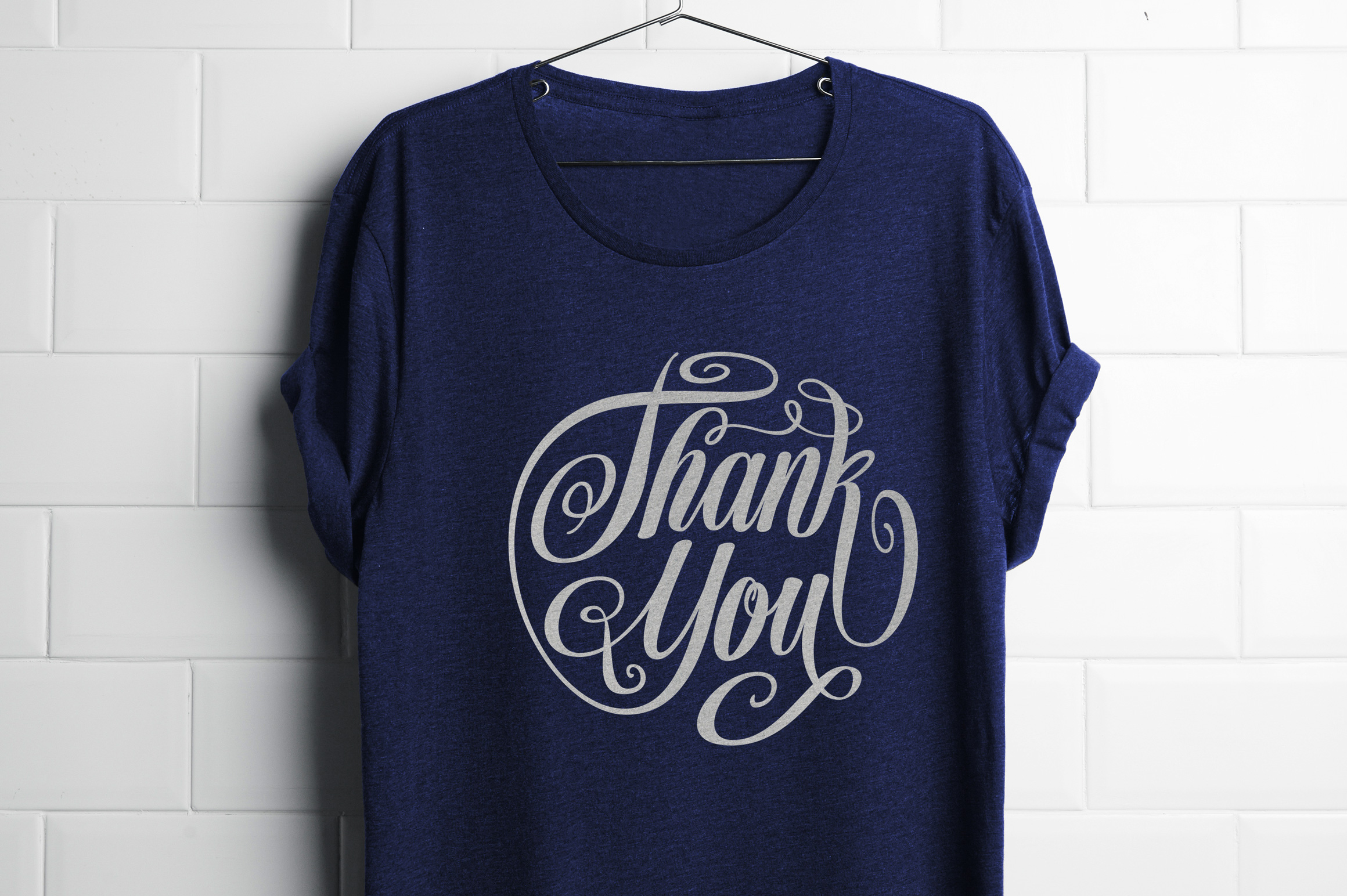 Thank You Lettering Circle Shape SVG example image 1