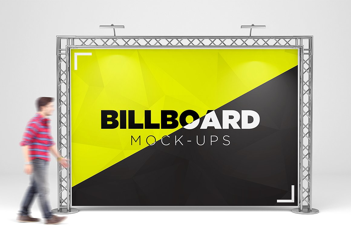 Billboard Trade Exhibition Mock-Up example image 2