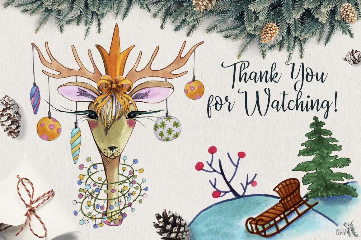 Fashion Christmas Deers Creator example image 6