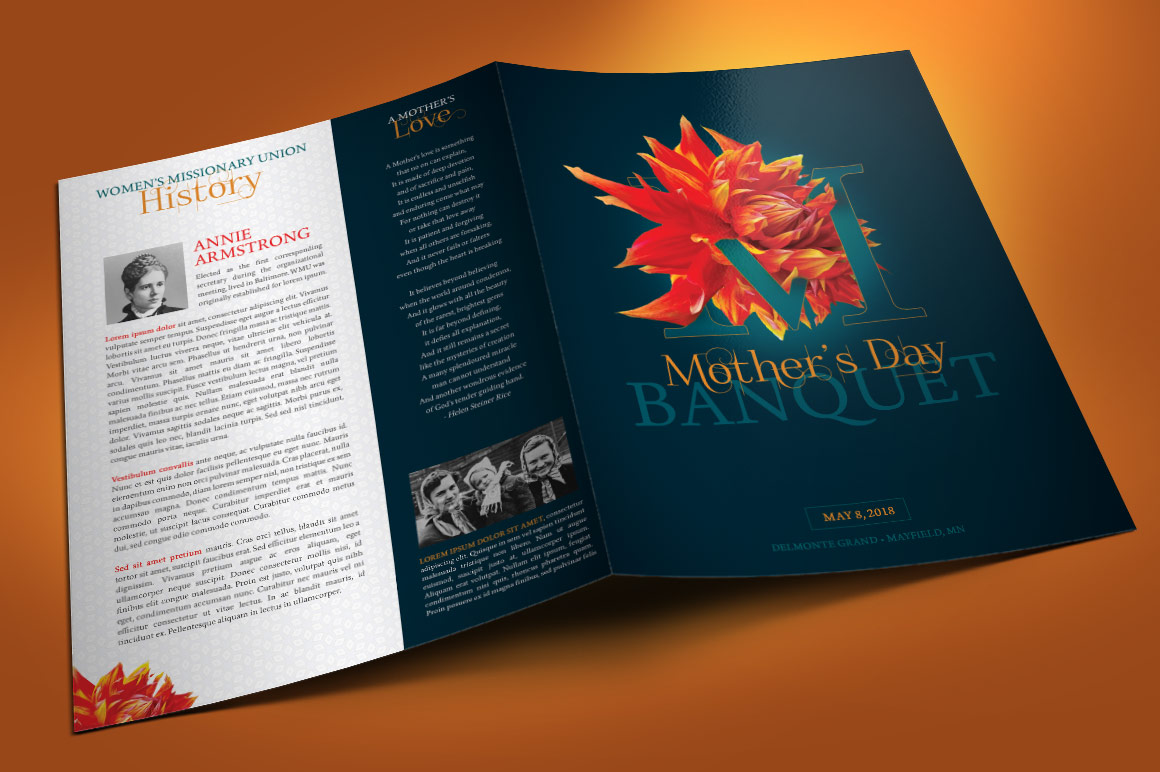 Mothers Day Banquet Brochure example image 3