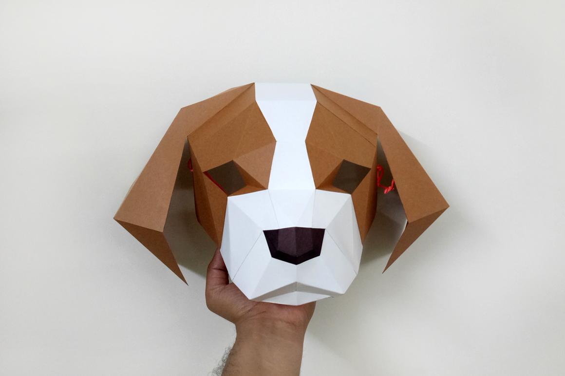 DIY Cocker Spaniel Mask - 3d papercraft example image 2
