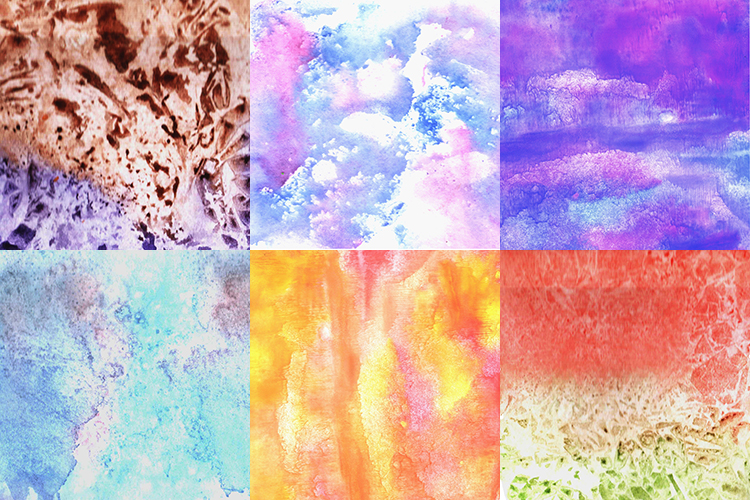 Bright watercolor texture. example image 3