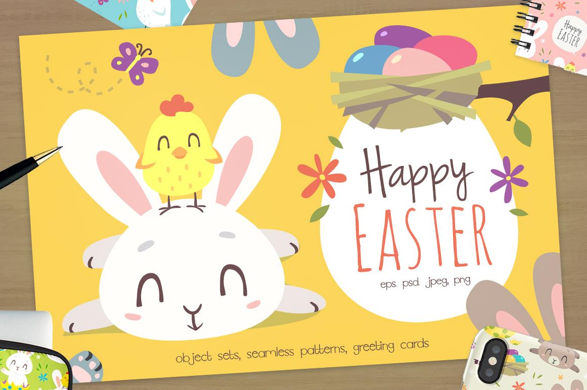 Easter Bunny Cartoon Set example image 1