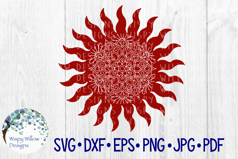 Sun Mandala, Celestial SVG Cut File example image 1