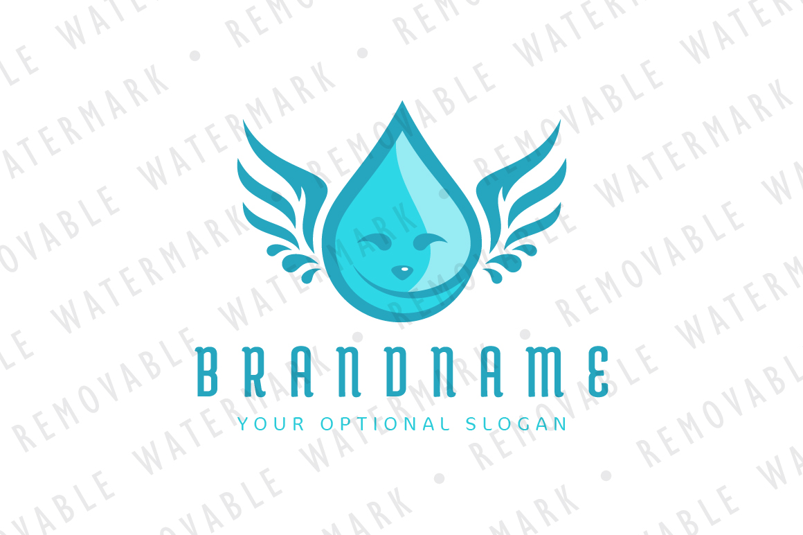 Droplet Angel Logo example image 1