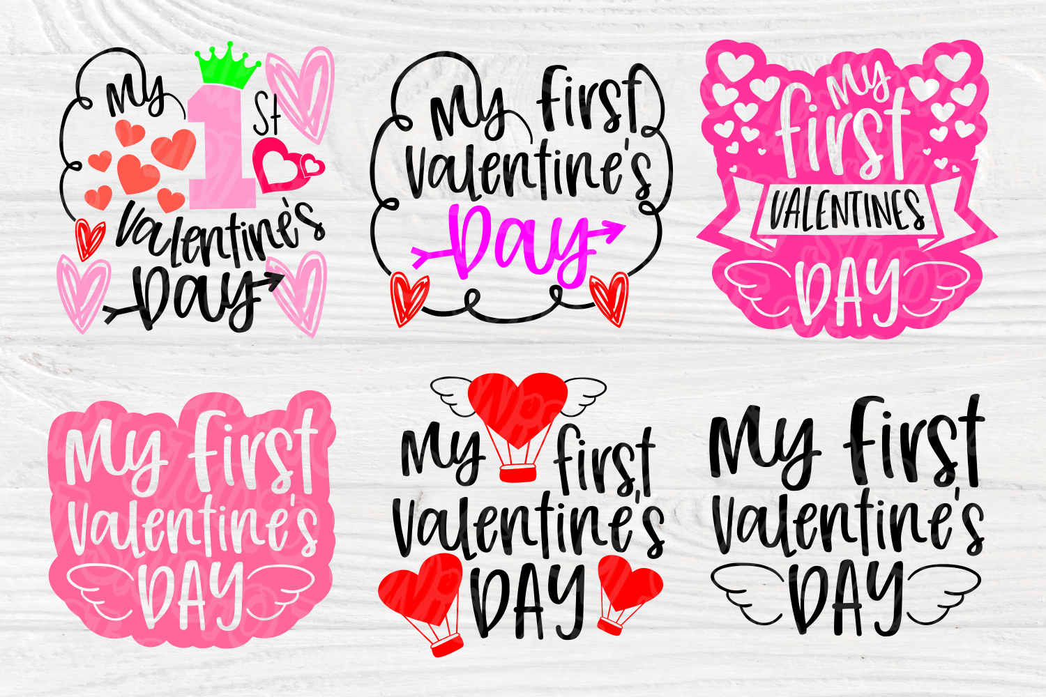 My First Valentine's Day | SVG Bundle | Valentines Quotes example image 3