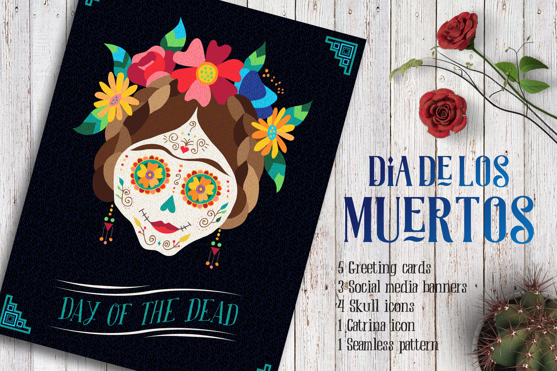 Dia de los Muertos Skull Collection example image 2