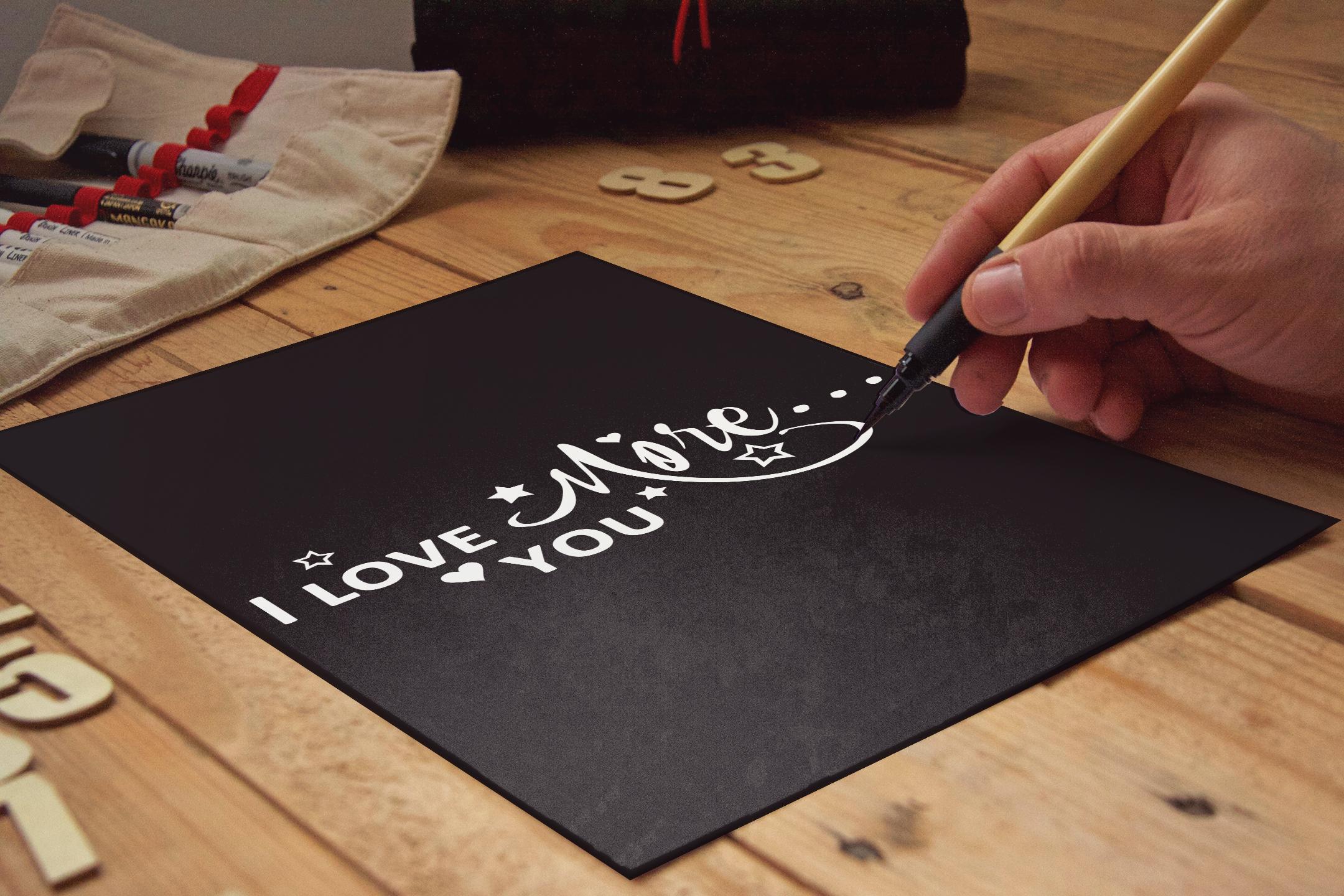 I Love you more svg Valentine svg Love heart svg example image 3