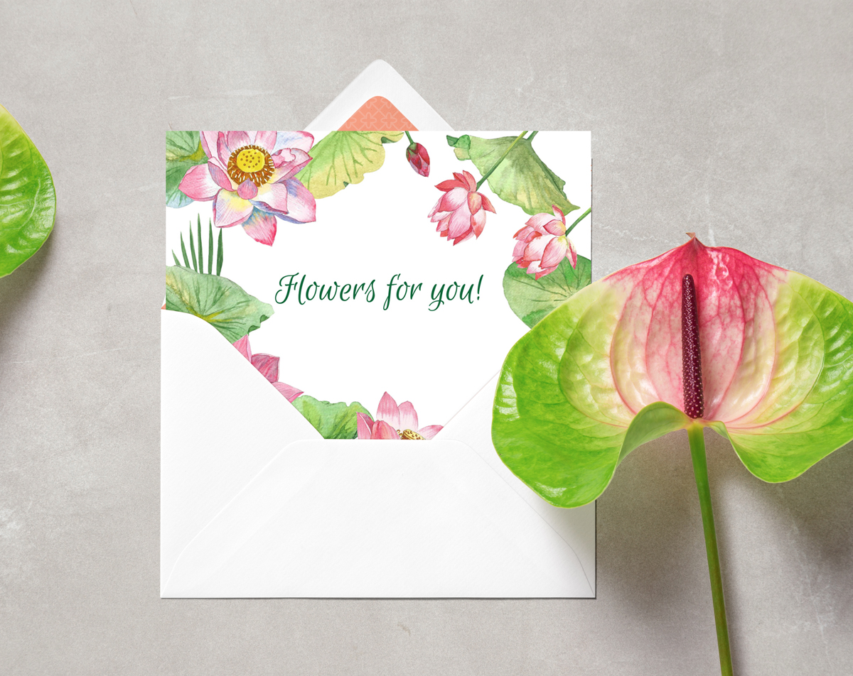 Lotus Flowers. Bouquets and Wreaths example image 6