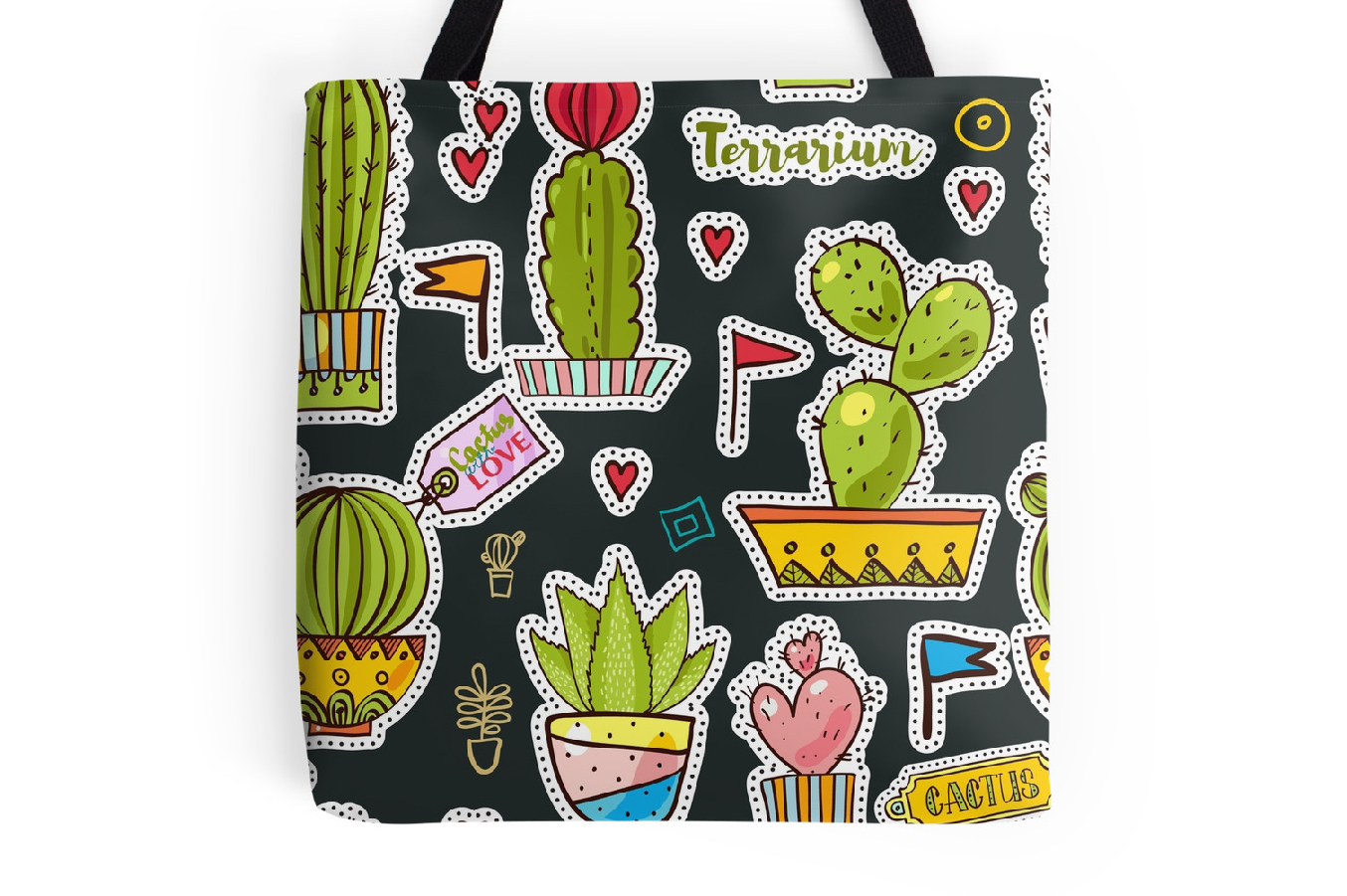 Set Fashion patches with cacti example image 5