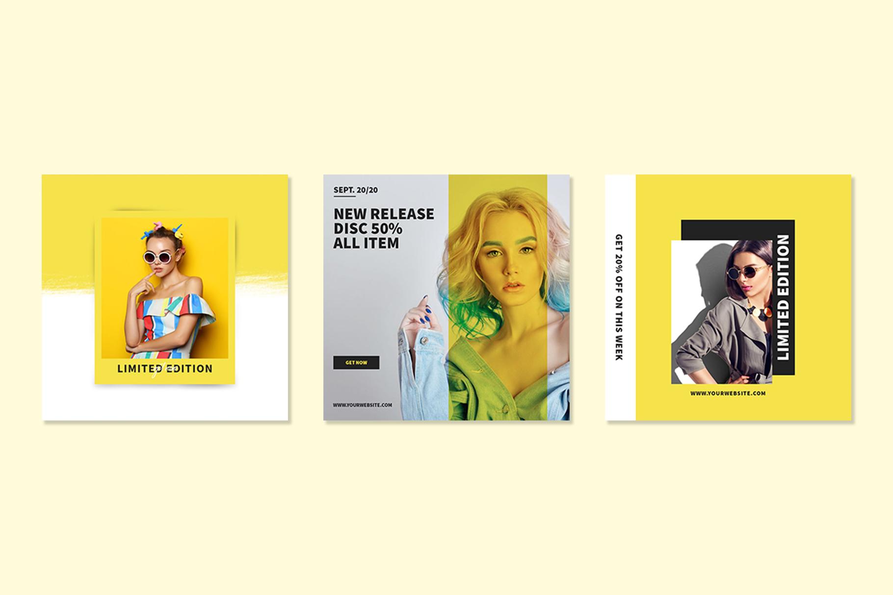 Yellow Instagram Templates example image 2
