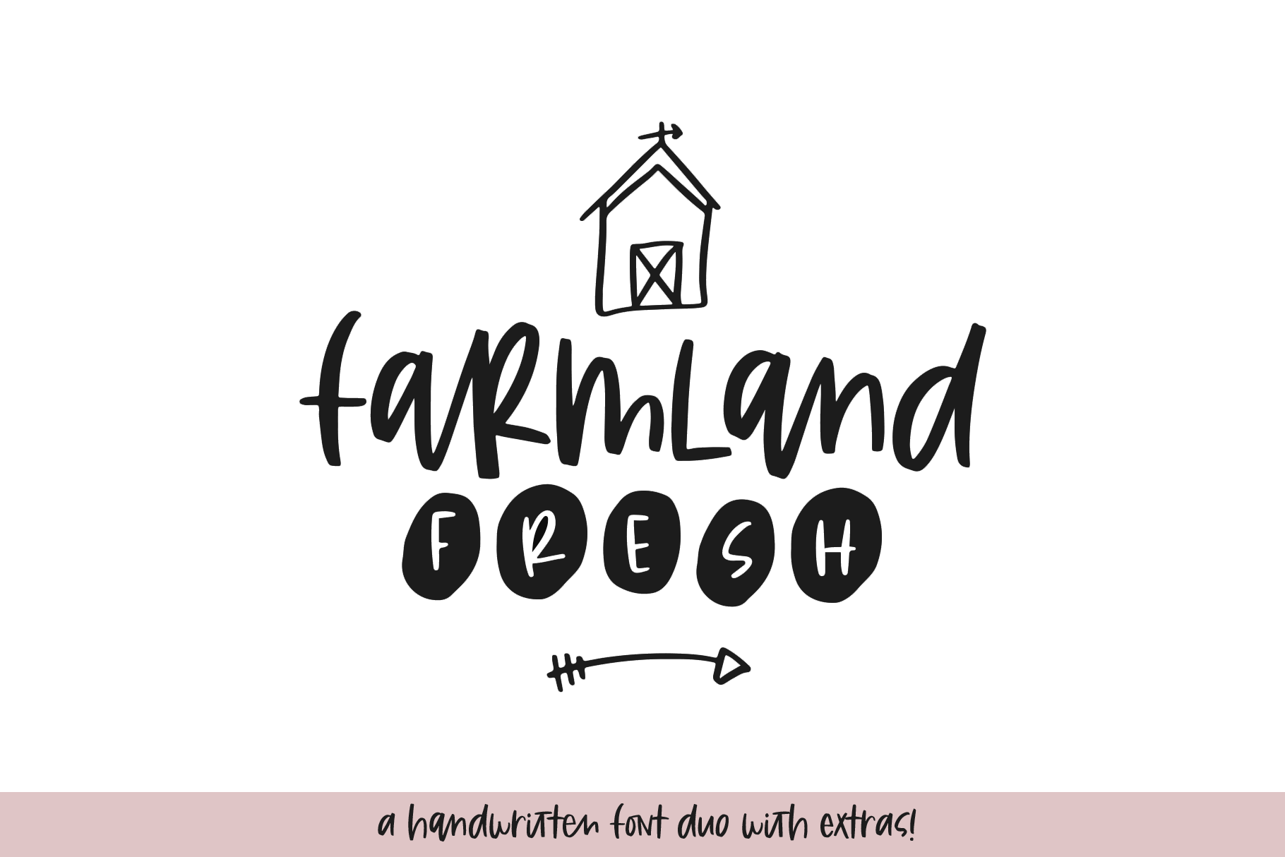Farmland Fresh - A Font Duo with Doodles example image 1