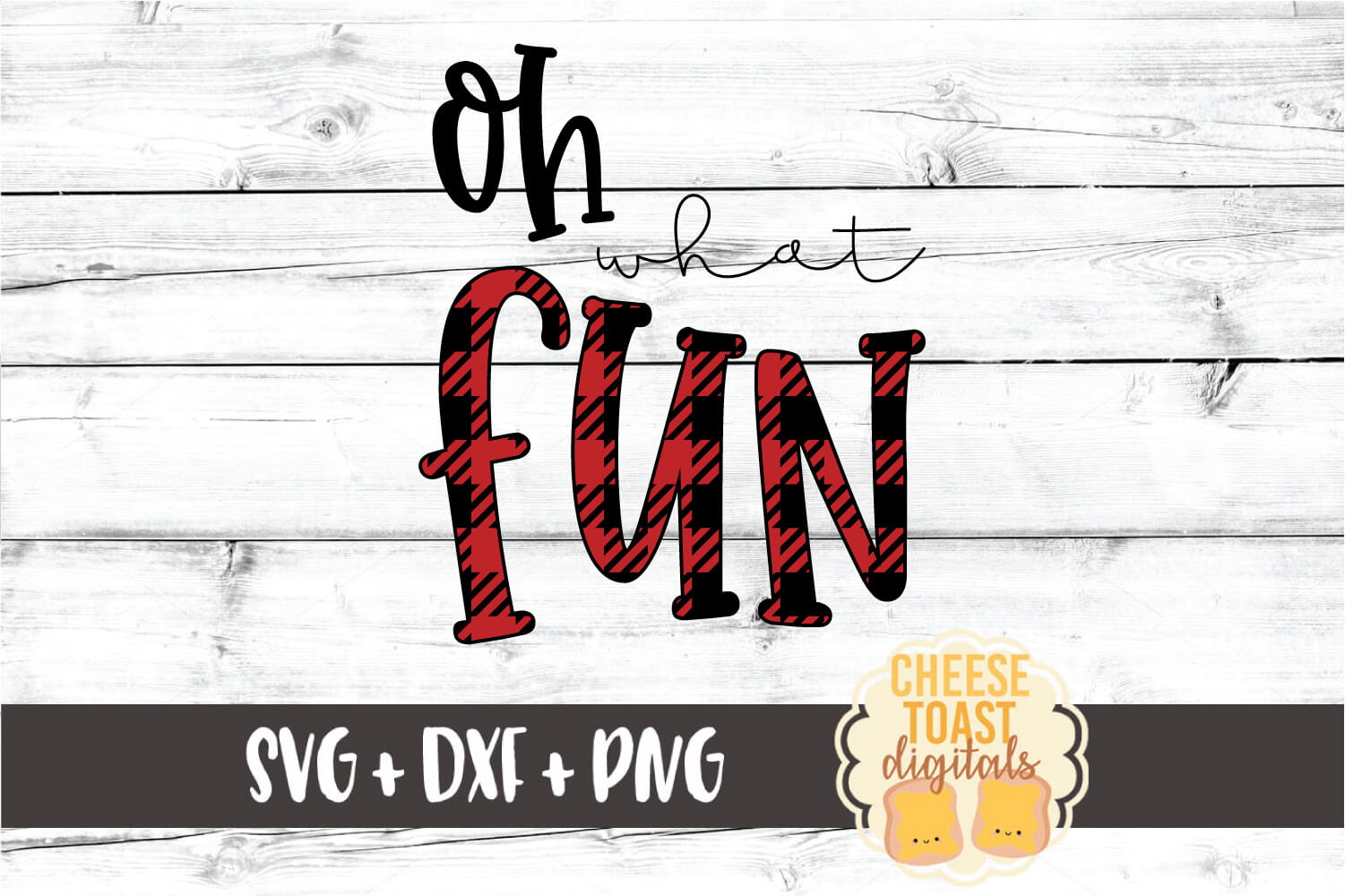 Oh What Fun - Christmas SVG PNG DXF Cut Files example image 2