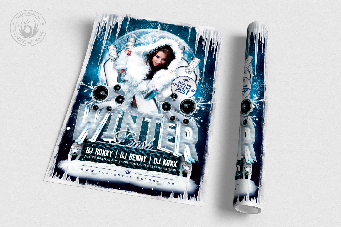 Winter Bash Flyer Template V1 example image 3