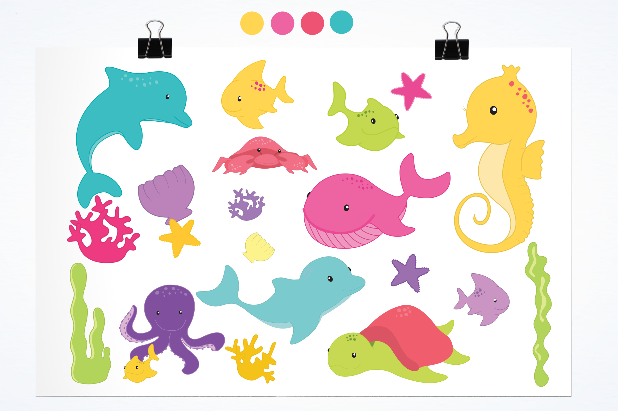Sea Creatures Girls graphics and illustrations example image 2