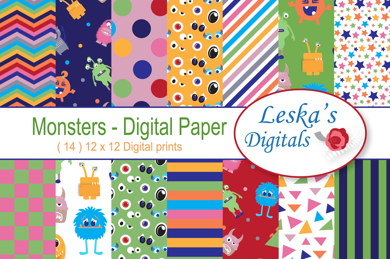 Monsters Digital Paper example image 1