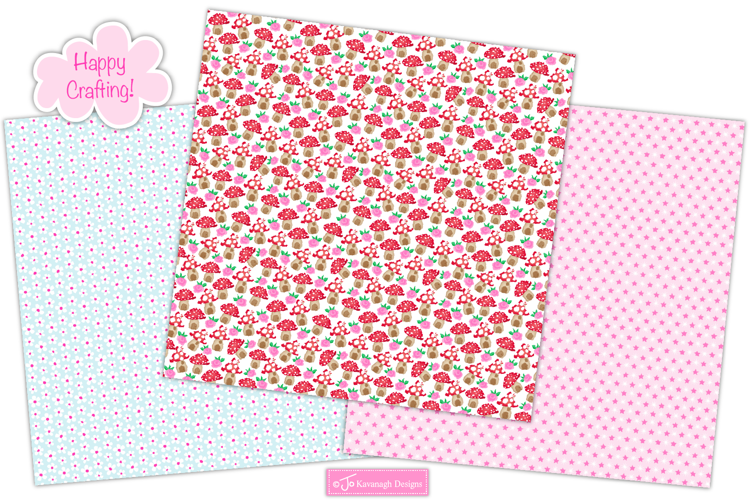 Fairy digital papers, Unicorn patterns, Fairies -P10 example image 5