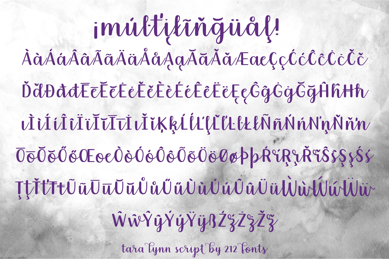212 Tara Lynn Script Font example image 8