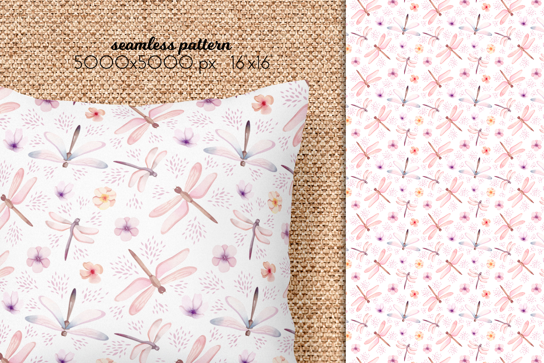 Butterflies and Dragonflies Patterns Collection example image 13