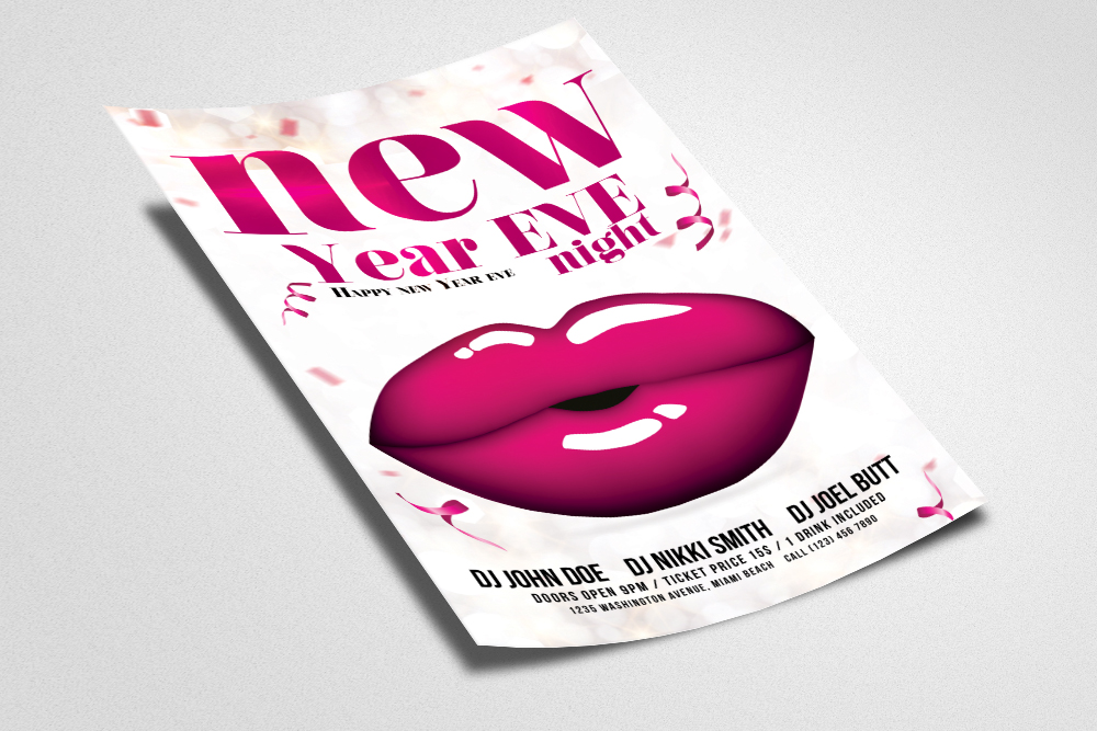 Happy New  Year Eve Night Flyer example image 3
